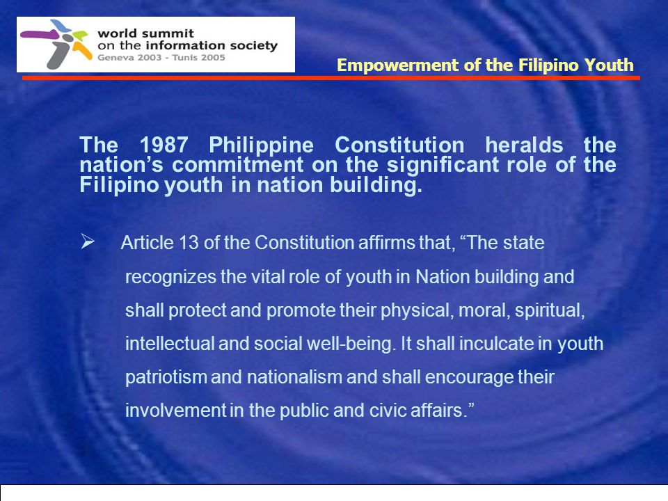 Article 13 of the Constitution affirms that, The state