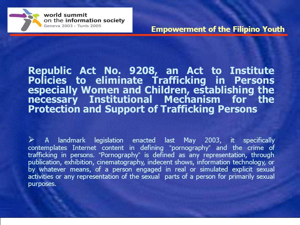 Empowerment of the Filipino Youth