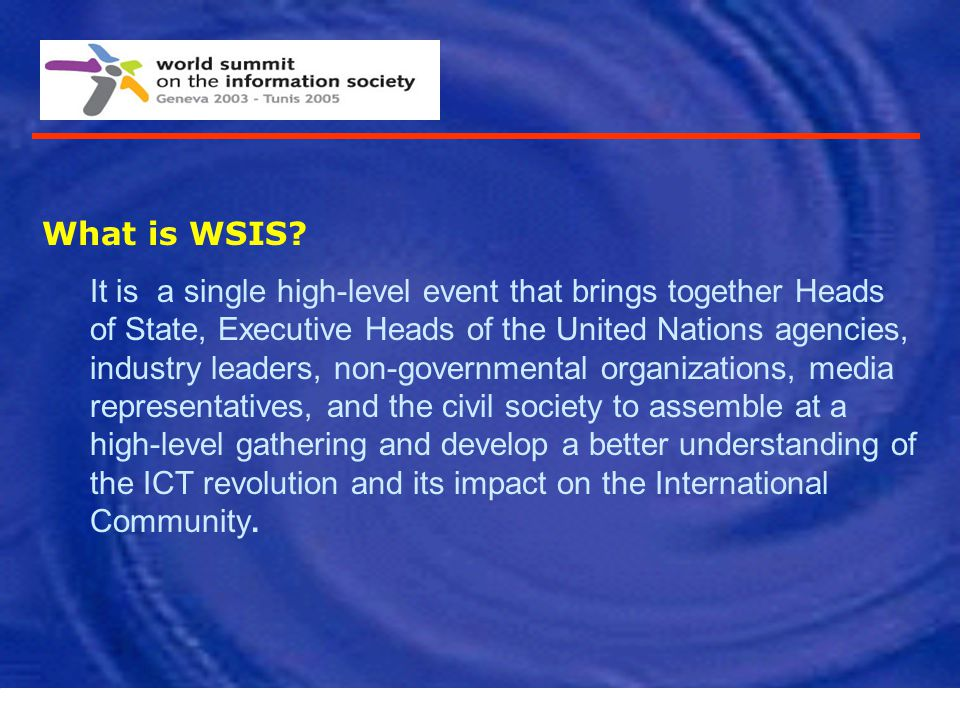 What is WSIS
