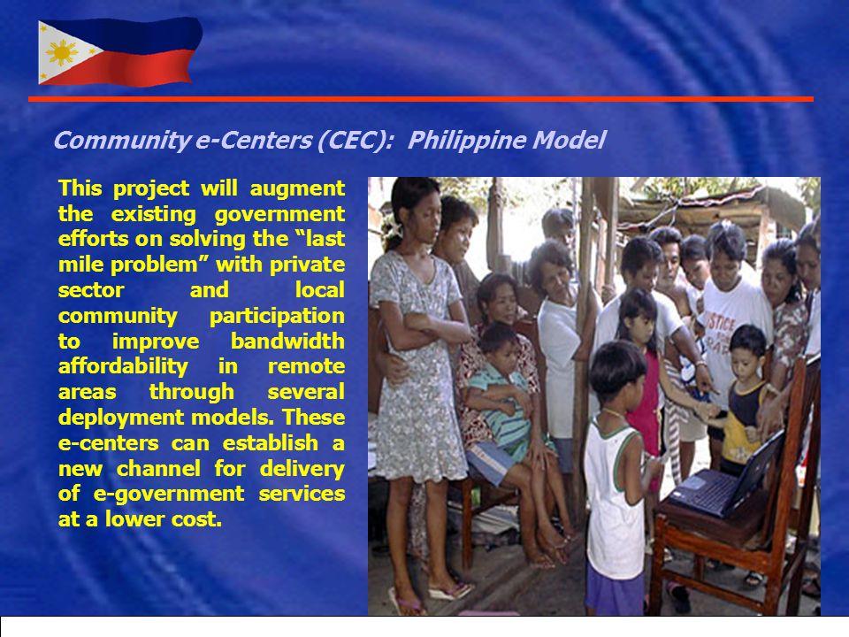 Community e-Centers (CEC): Philippine Model