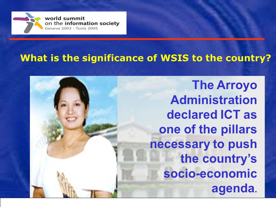 What is the significance of WSIS to the country