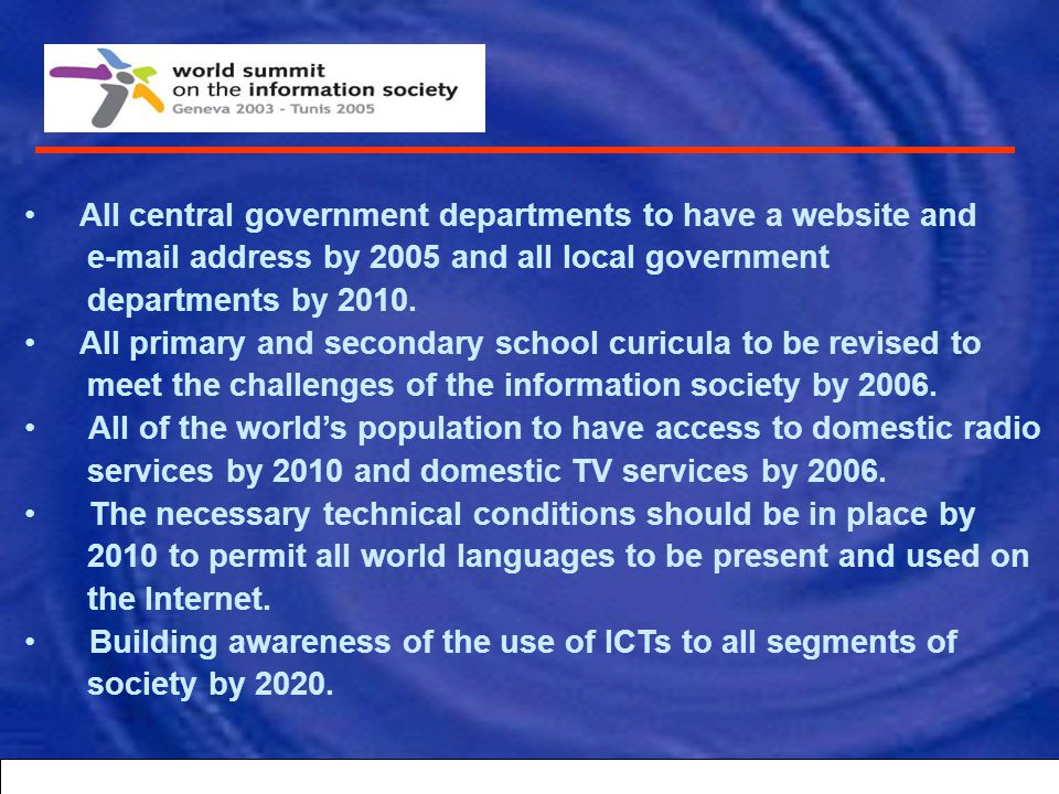 All central government departments to have a website and