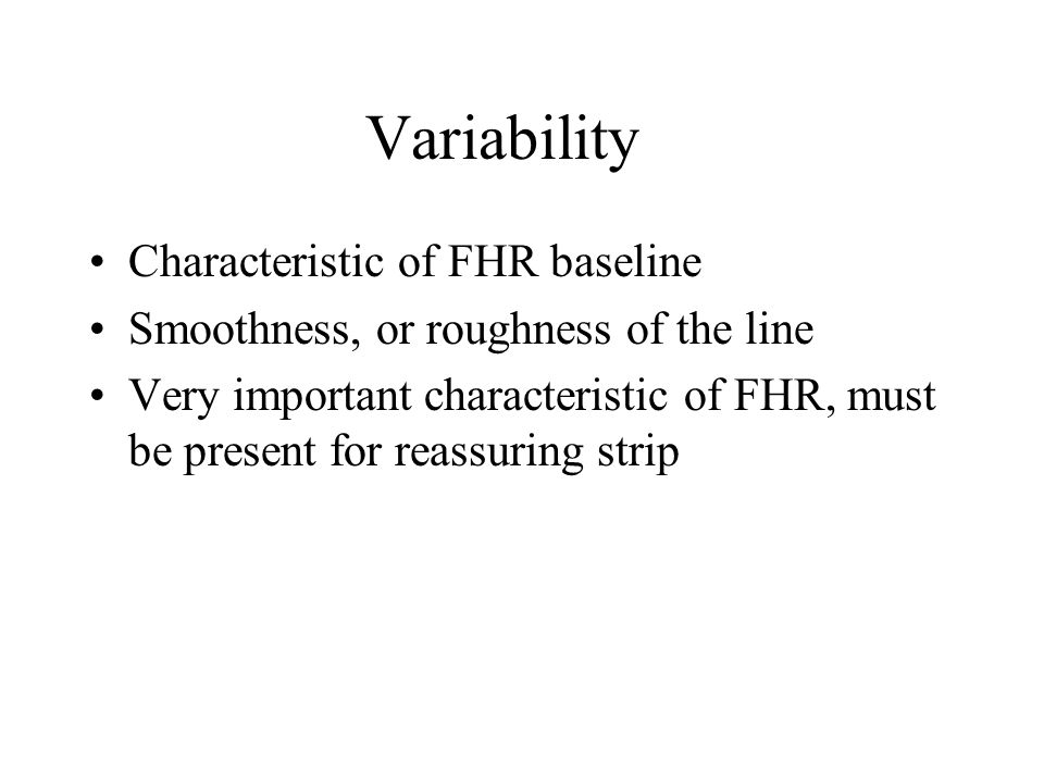 Variability Characteristic of FHR baseline