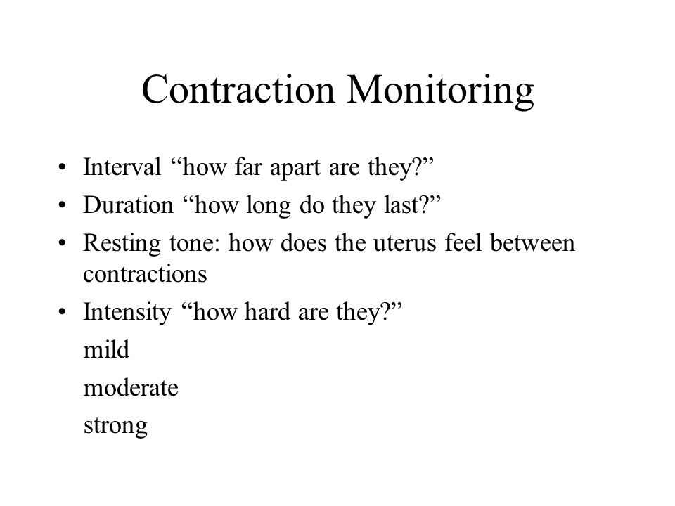 Contraction Monitoring