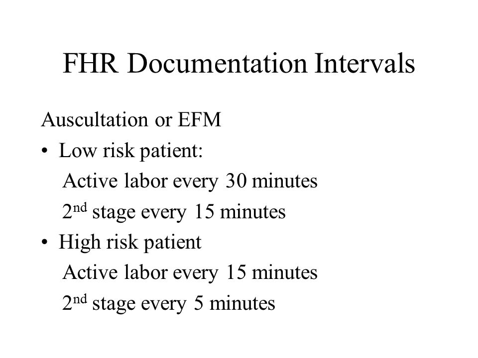 FHR Documentation Intervals