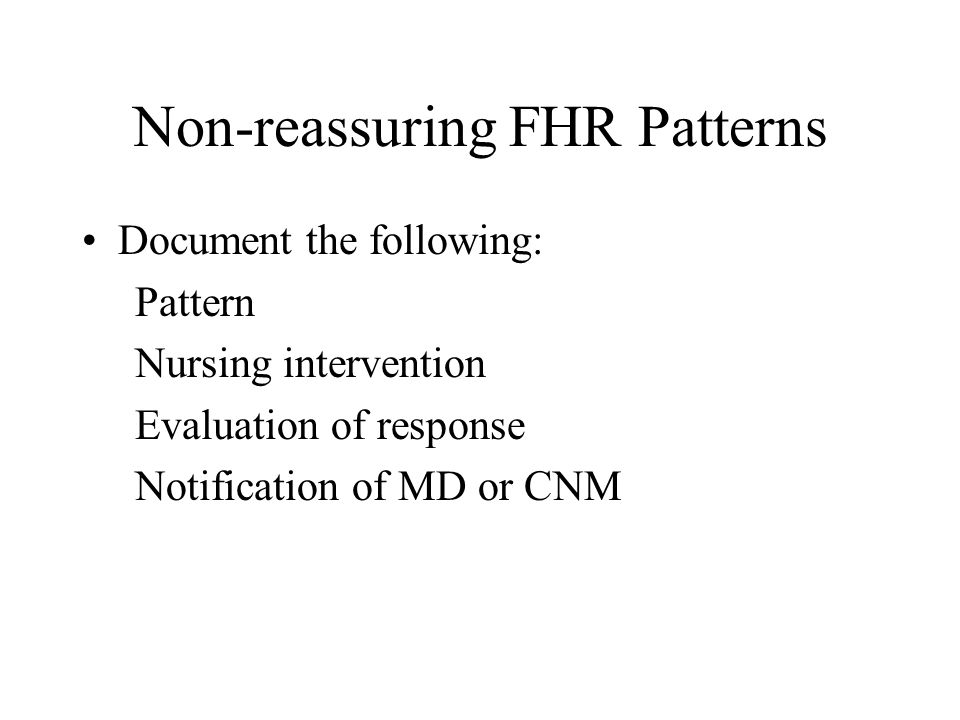 Non-reassuring FHR Patterns
