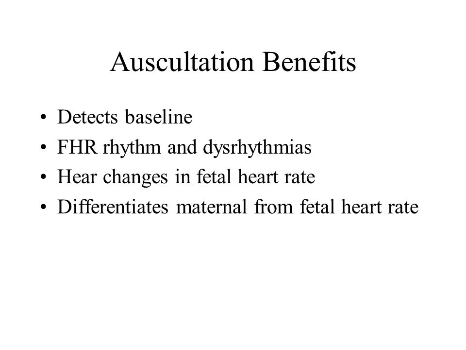 Auscultation Benefits