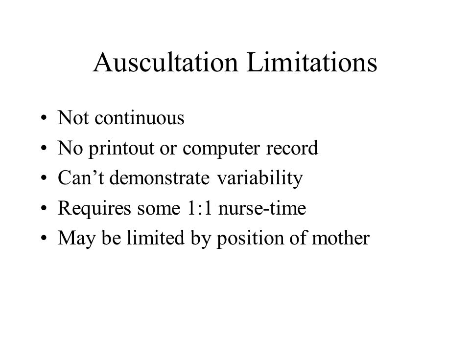 Auscultation Limitations