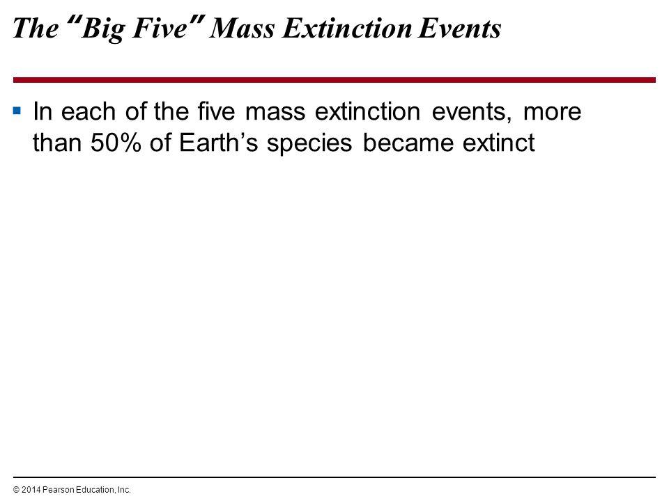 The Big Five Mass Extinction Events
