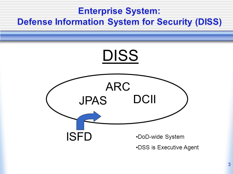 Enterprise System: Defense Information System for Security (DISS)