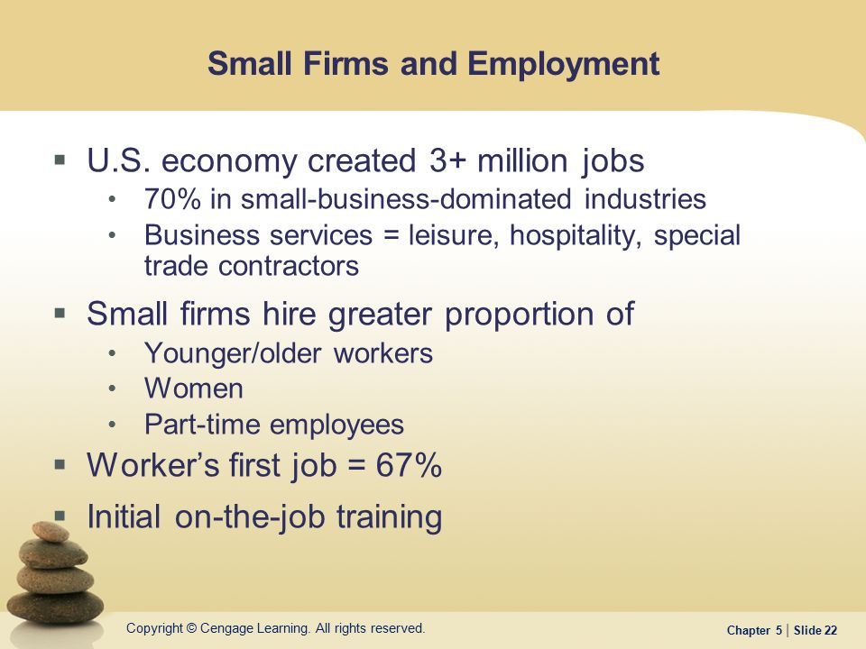 Small Firms and Employment