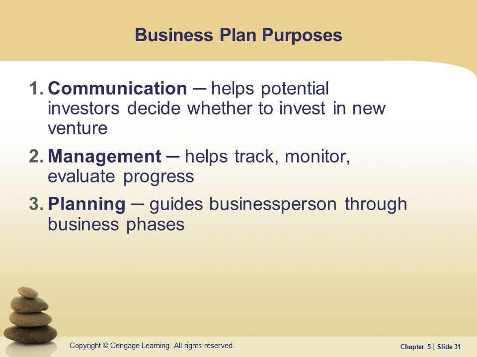 Business Plan Purposes