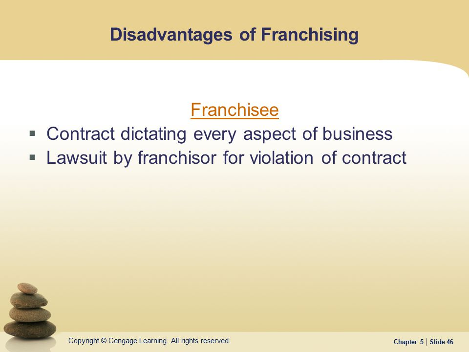 Disadvantages of Franchising