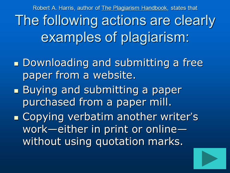 Downloading and submitting a free paper from a website.