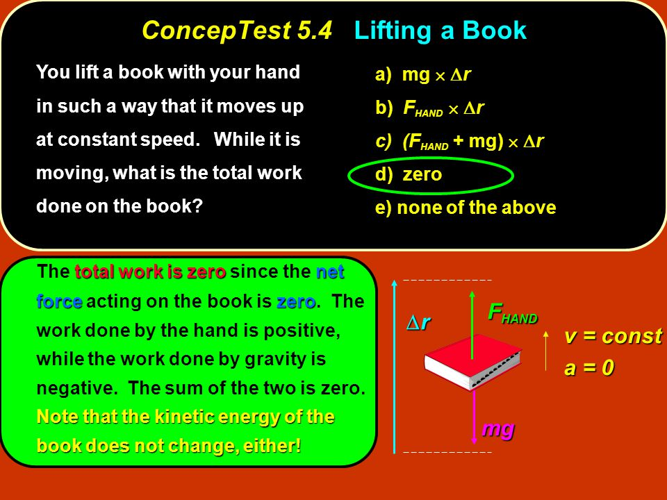 ConcepTest 5.4 Lifting a Book