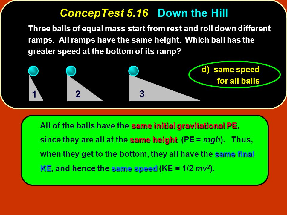 ConcepTest 5.16 Down the Hill