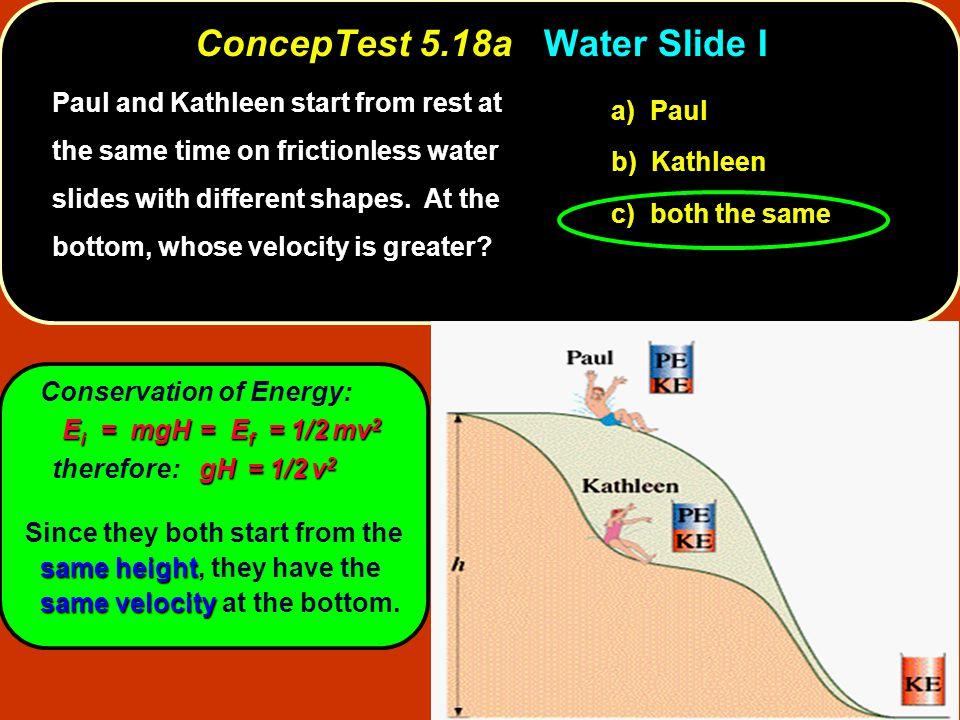 ConcepTest 5.18a Water Slide I
