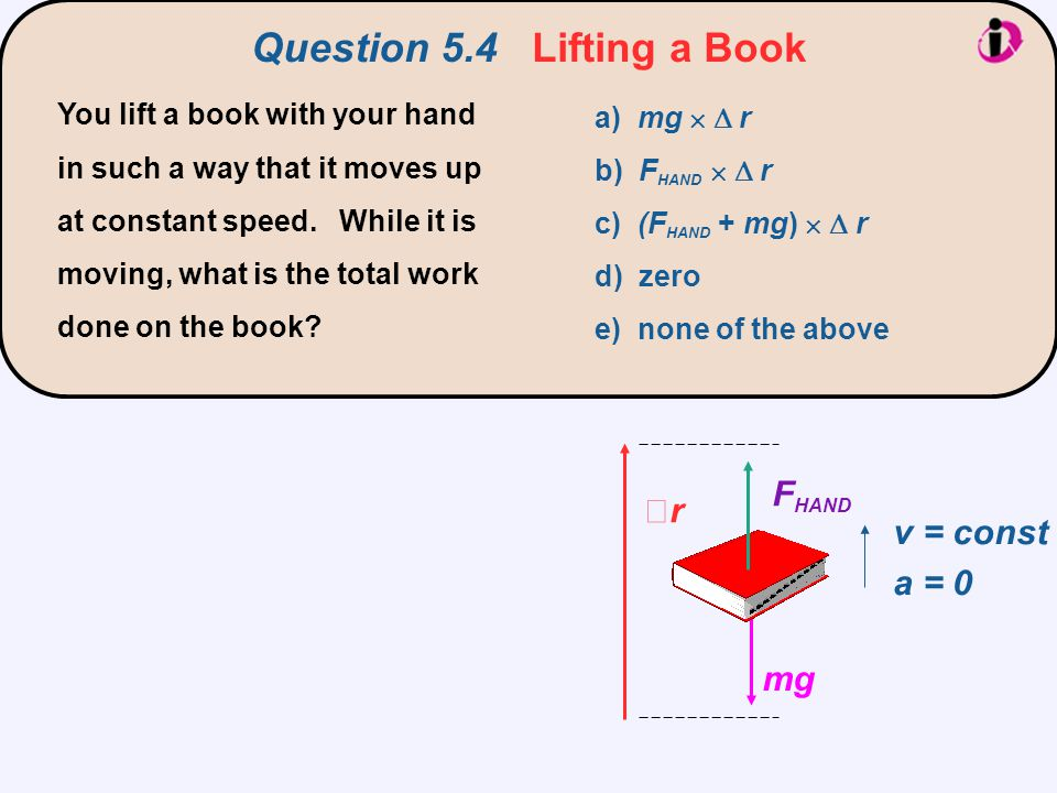 Question 5.4 Lifting a Book
