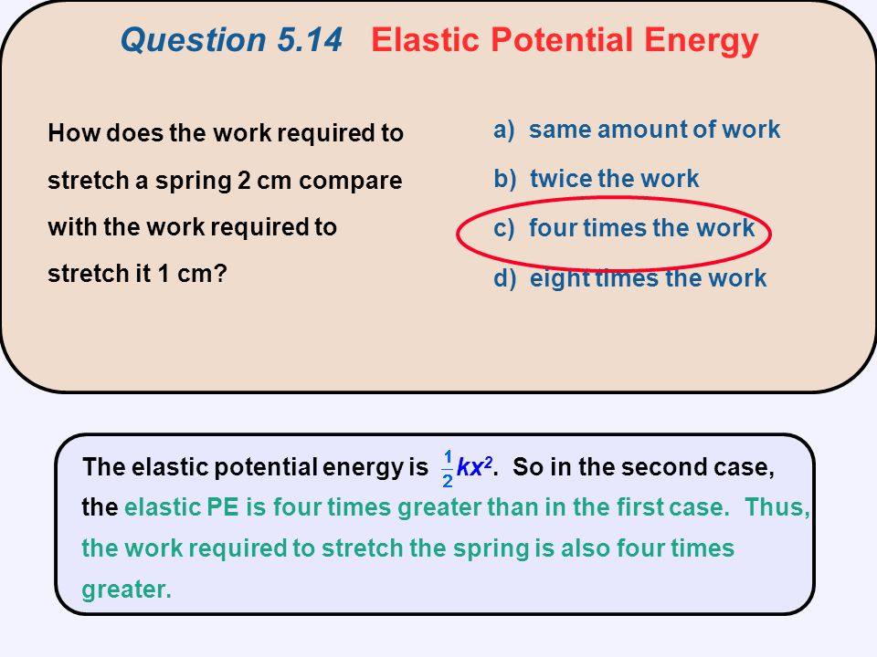 Question 5.14 Elastic Potential Energy