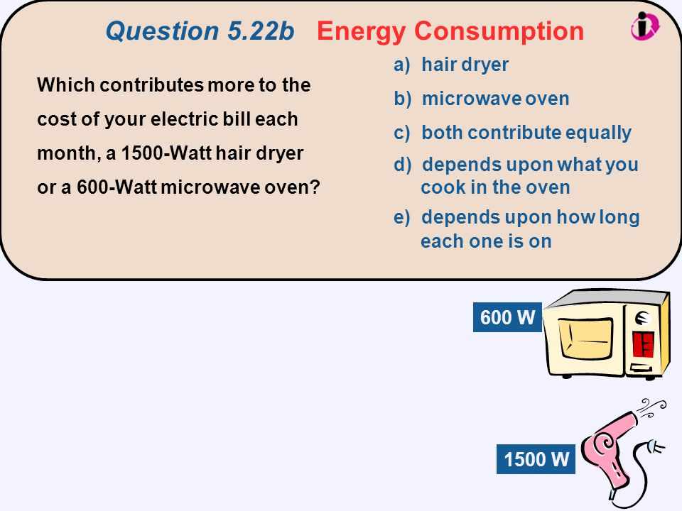 Question 5.22b Energy Consumption