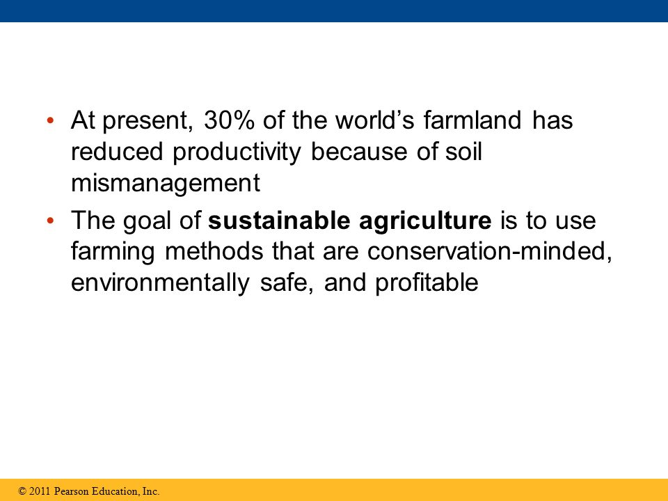 At present, 30% of the world's farmland has reduced productivity because of soil mismanagement