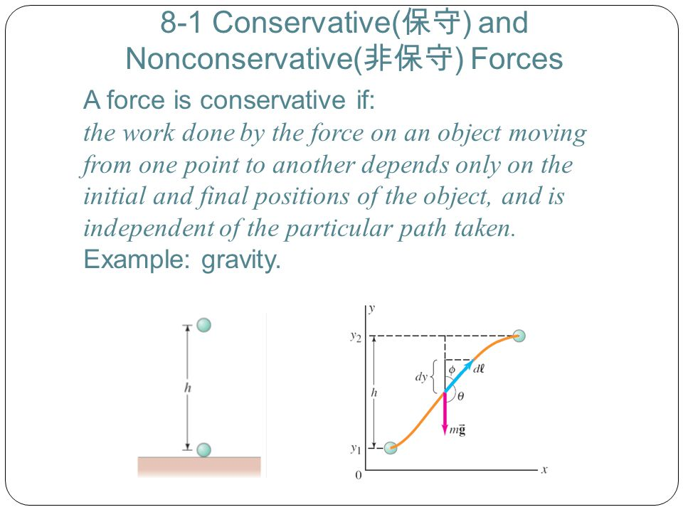 8-1 Conservative(保守) and Nonconservative(非保守) Forces
