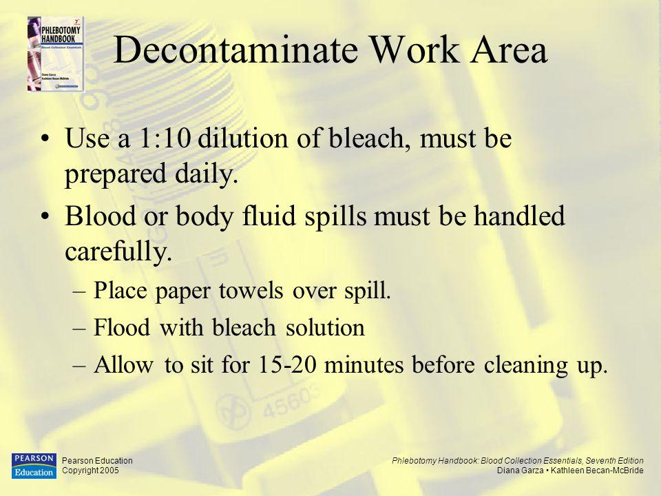 Decontaminate Work Area