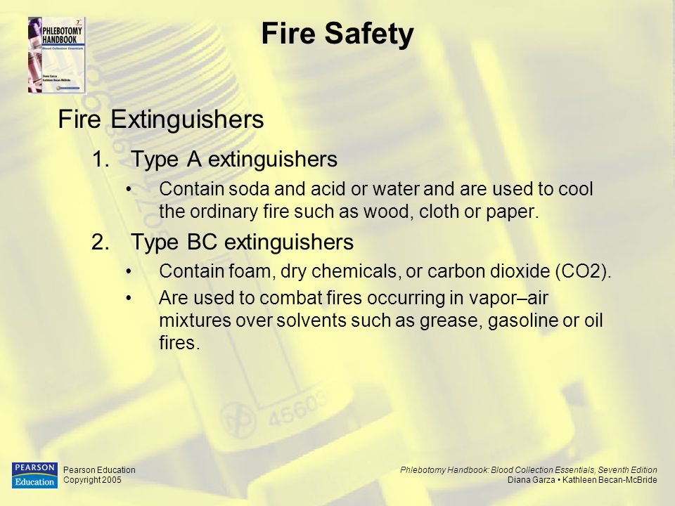 Fire Safety Fire Extinguishers Type A extinguishers