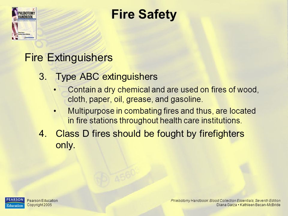 Fire Safety Fire Extinguishers Type ABC extinguishers