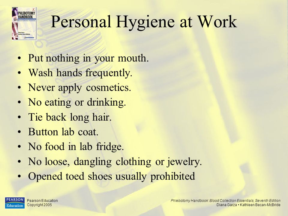 Personal Hygiene at Work
