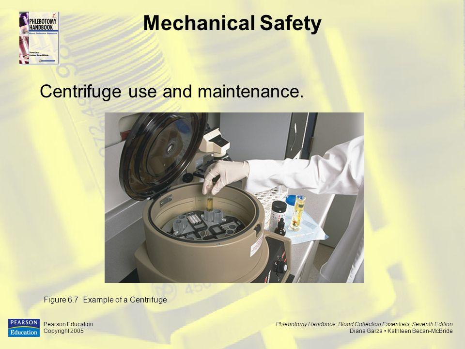 Mechanical Safety Centrifuge use and maintenance.