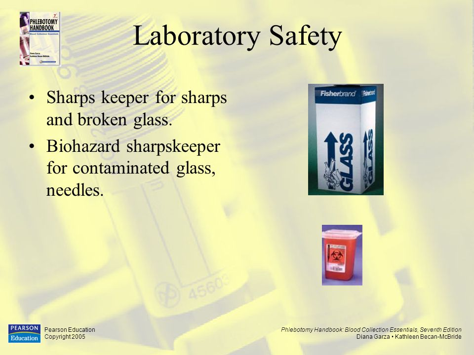 Laboratory Safety Sharps keeper for sharps and broken glass.