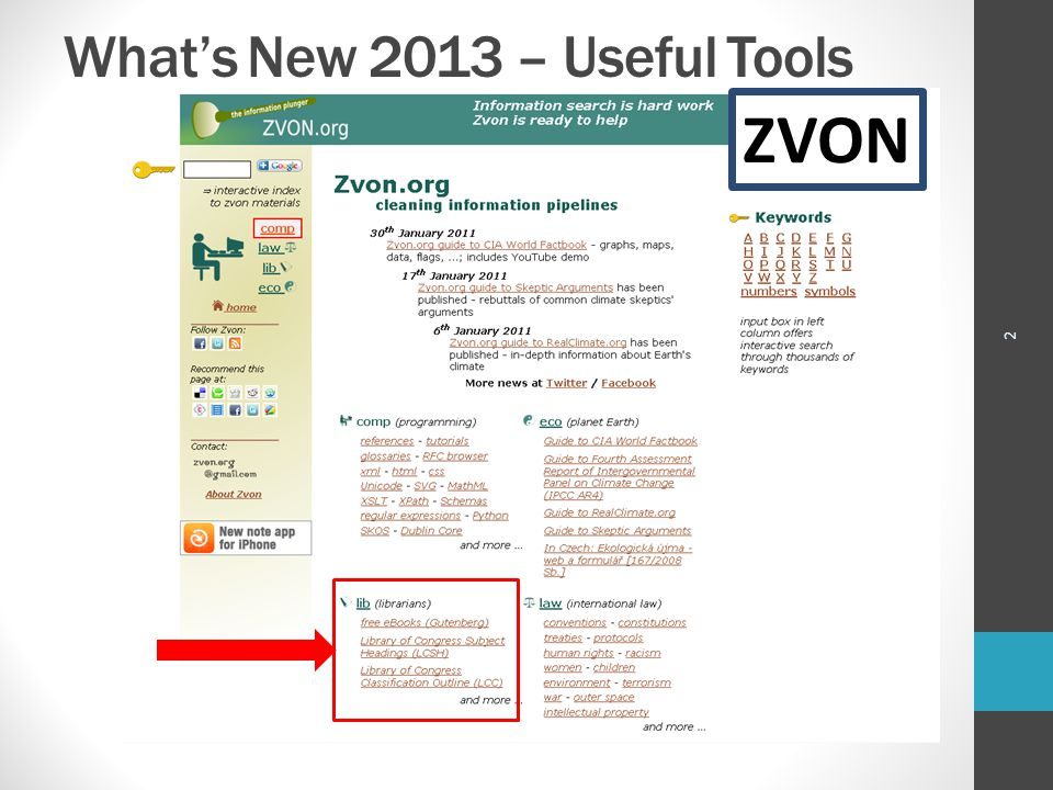 What's New 2013 – Useful Tools