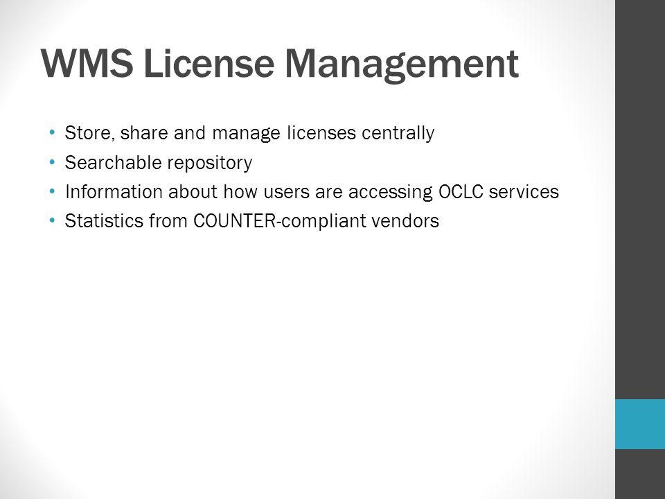 WMS License Management