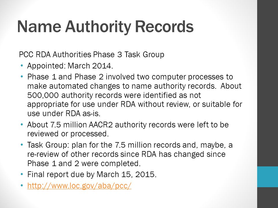 Name Authority Records