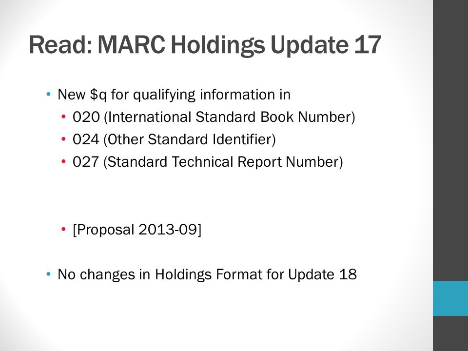 Read: MARC Holdings Update 17