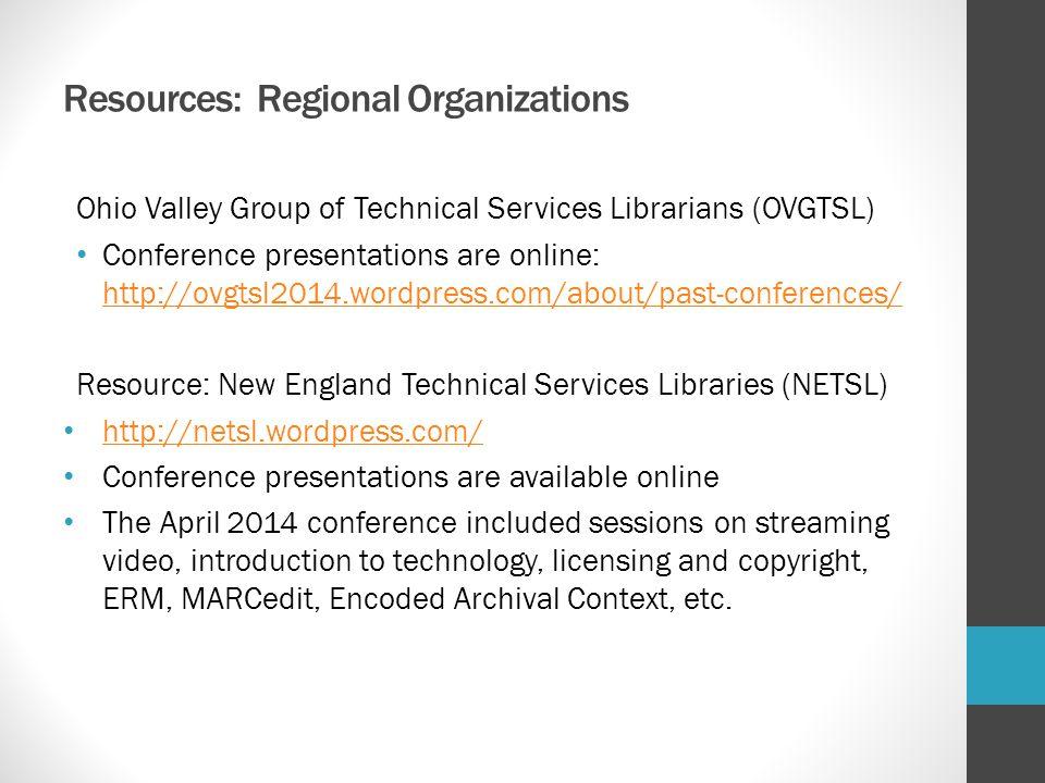 Resources: Regional Organizations