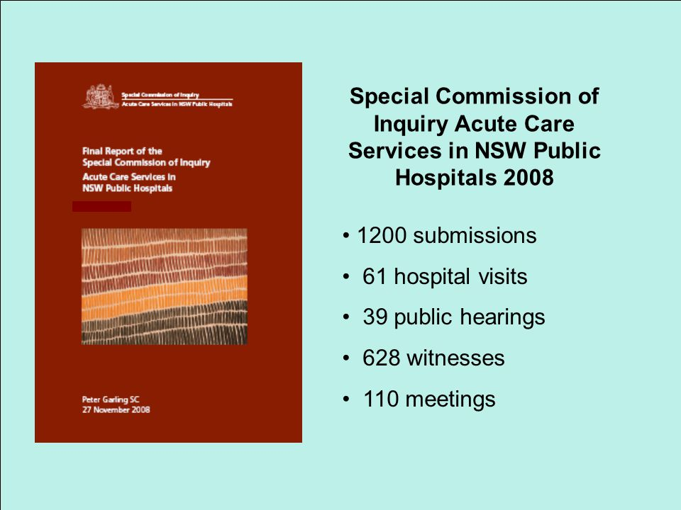 Special Commission of Inquiry Acute Care Services in NSW Public Hospitals 2008