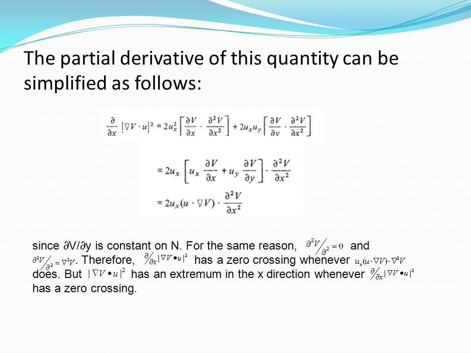 The partial derivative of this quantity can be simplified as follows: