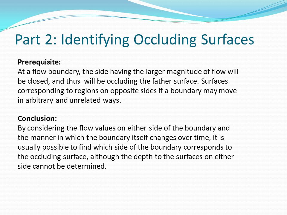 Part 2: Identifying Occluding Surfaces
