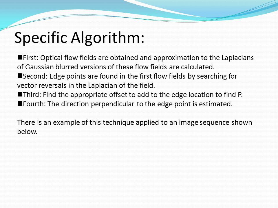 Specific Algorithm: