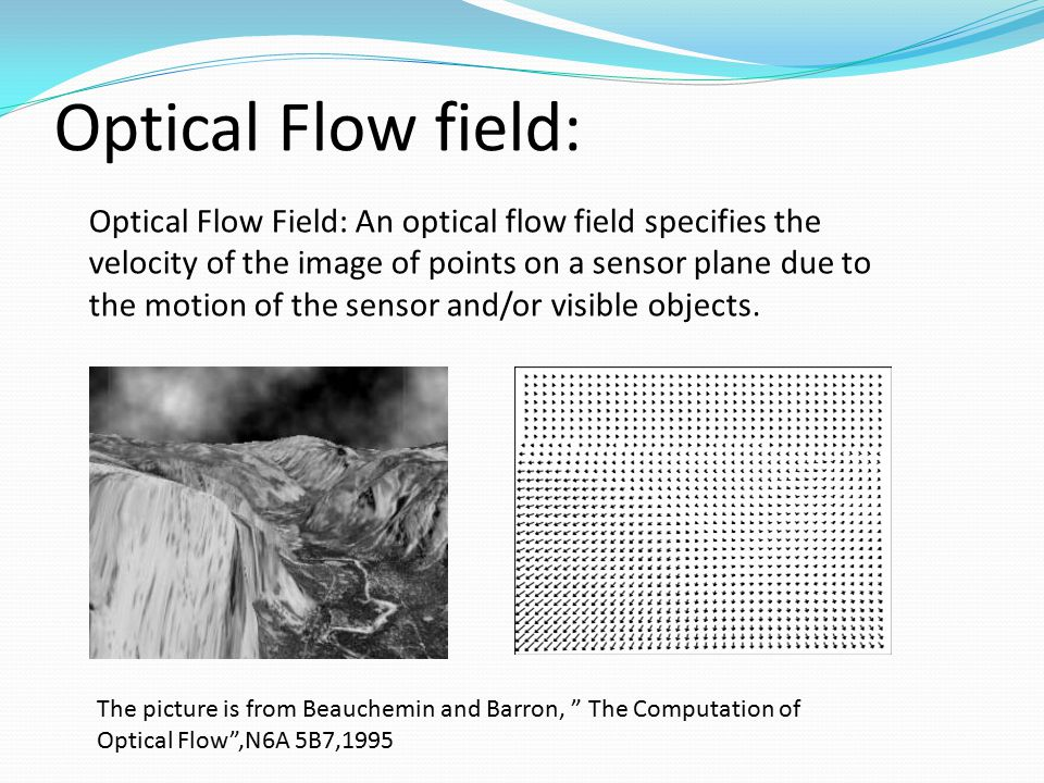 Optical Flow field: