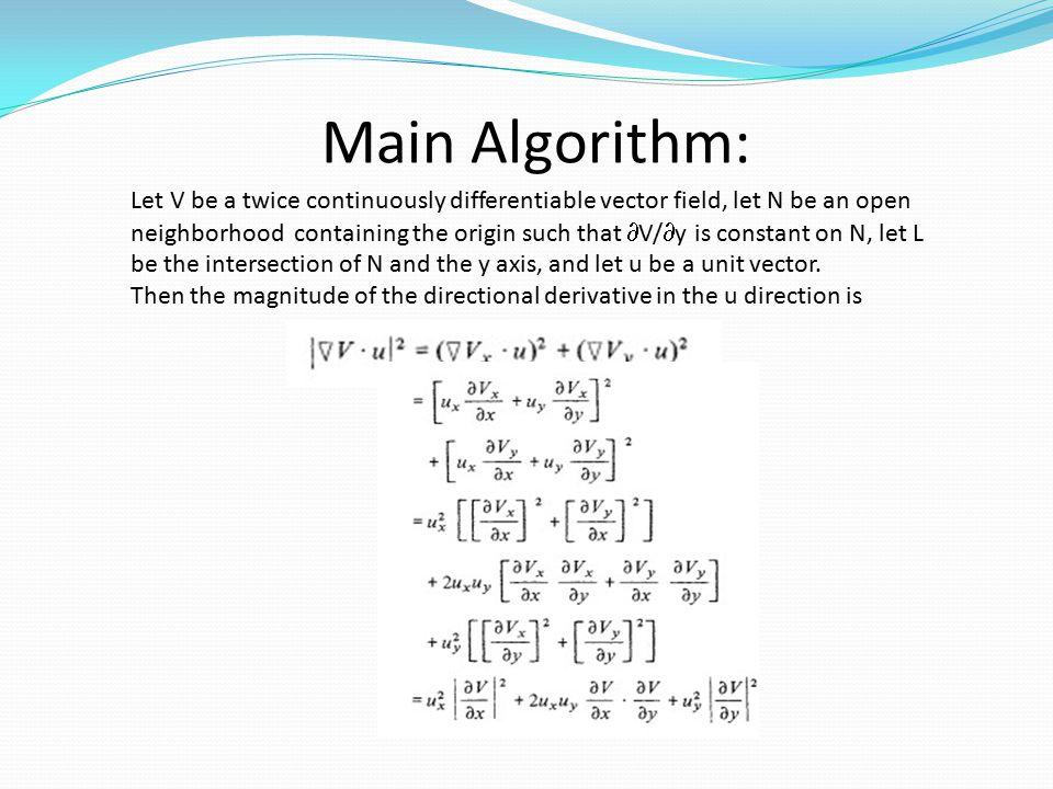 Main Algorithm: