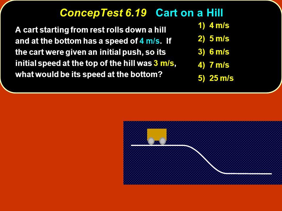 ConcepTest 6.19 Cart on a Hill