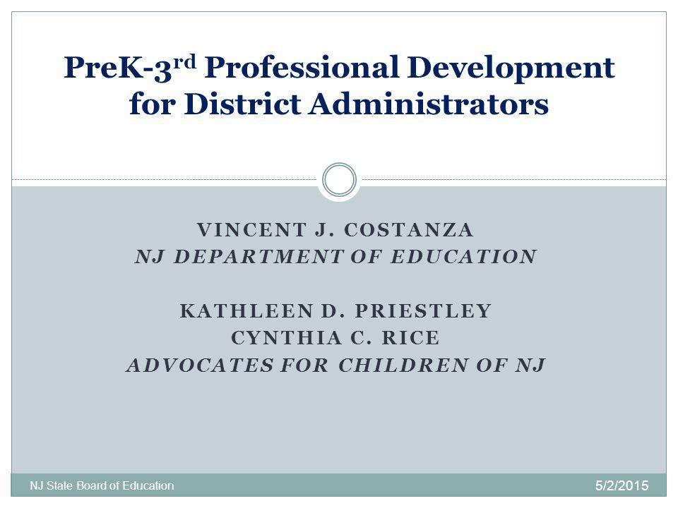PreK-3rd Professional Development for District Administrators