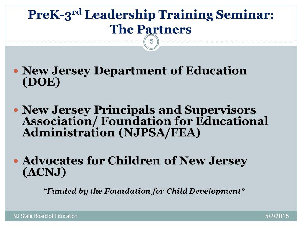 PreK-3rd Leadership Training Seminar: The Partners