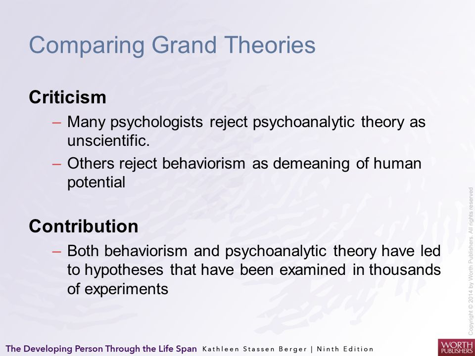 Comparing Grand Theories