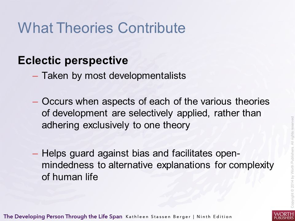What Theories Contribute