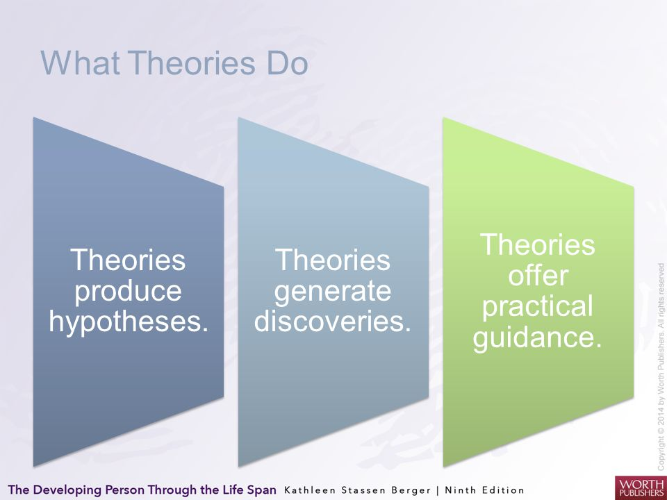 What Theories Do Theories produce hypotheses.
