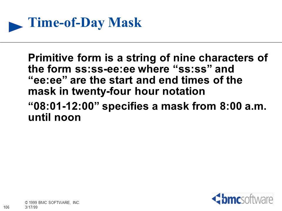 Time-of-Day Mask